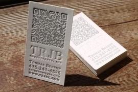 Letterpress Visitekaartje