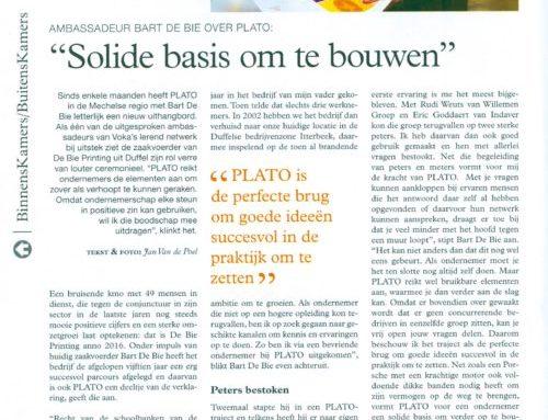 Bart De Bie is Plato ambassadeur voor VOKA
