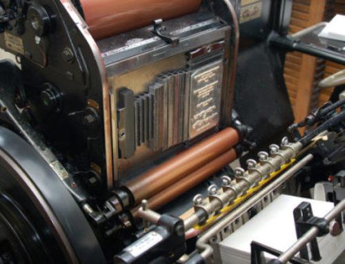 Letterpress (typo) heeft toekomst, ook in groter formaat