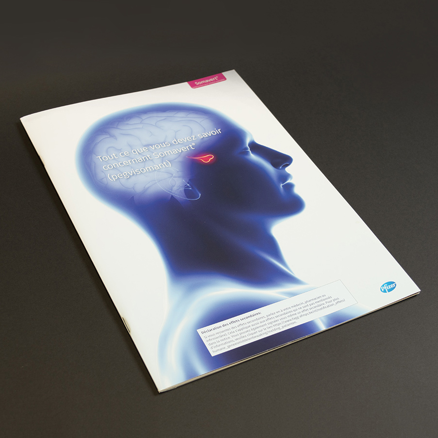 Pfizer brochure met pochette