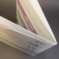 Roche brochure met pochet en tabs