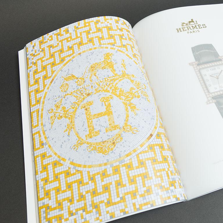 Kimm brochure met kalk inserts en goudfolie 3