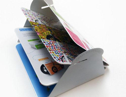 Zigzag folder met sluitsysteem