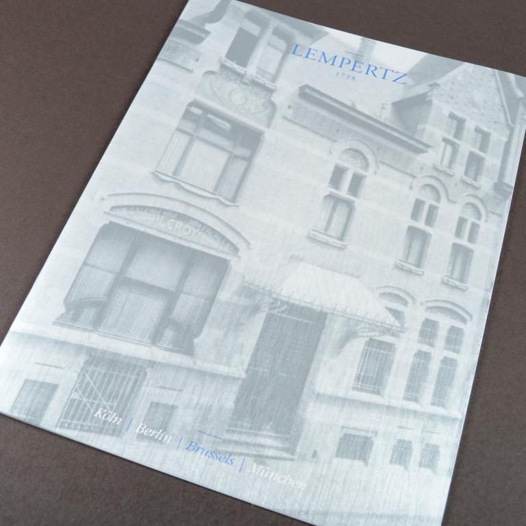 Lempertz luxe brochure metallic cover 4