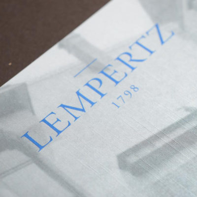 Lempertz luxe brochure metallic cover 3