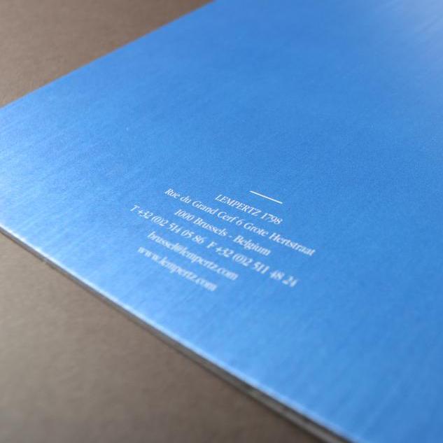 Lempertz luxe brochure metallic cover 2