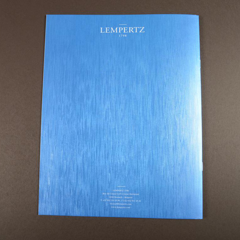 Lempertz luxe brochure metallic cover