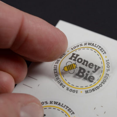Transparante vinyl sticker offset druk 2