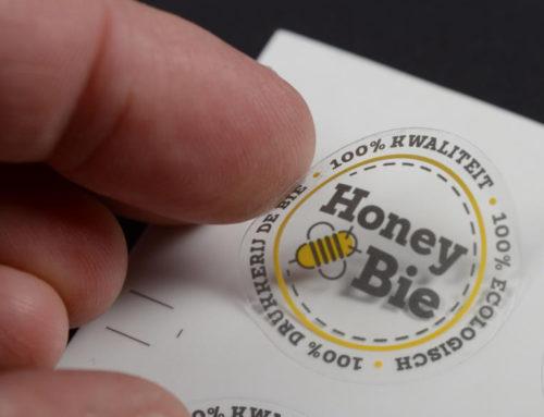 Transparante vinyl sticker