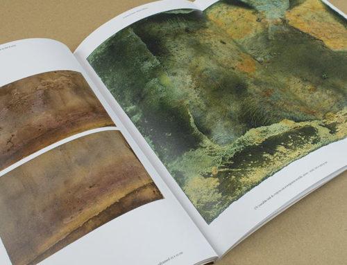 Kunstboek met uitvouw en kalkpapier