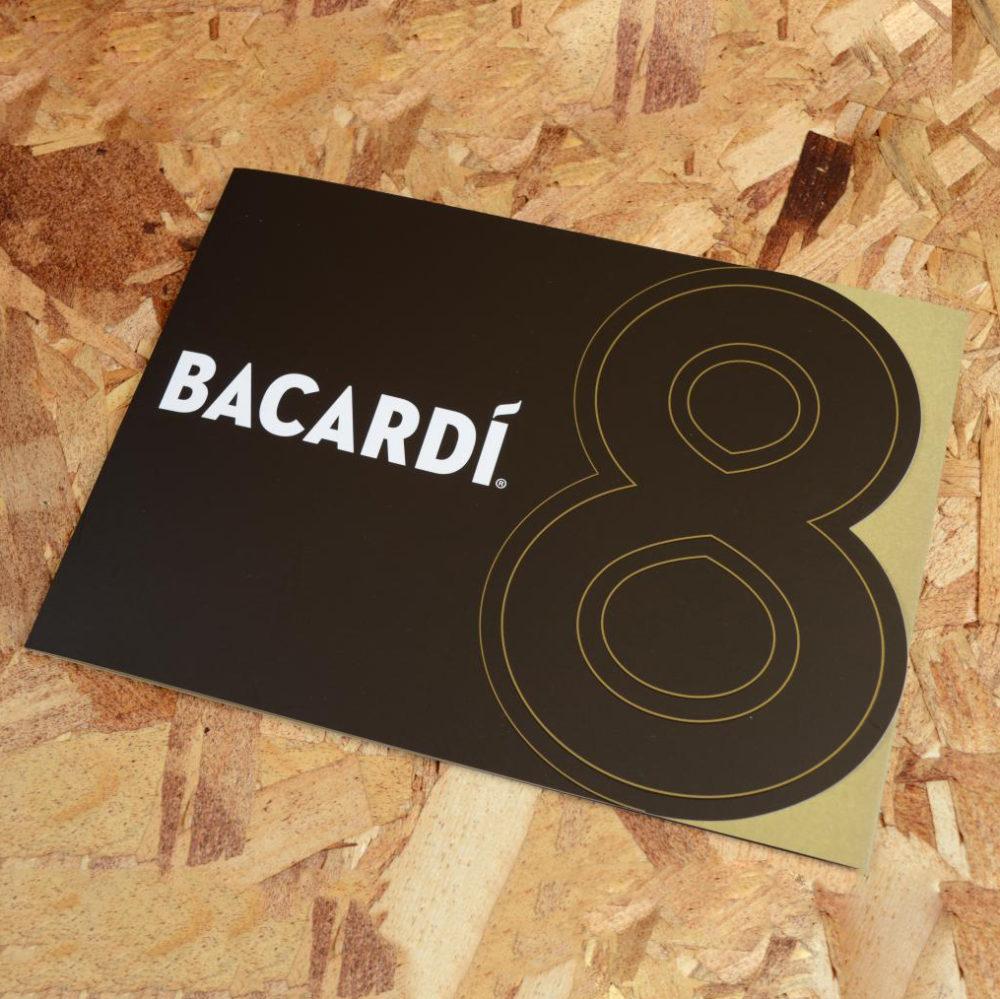 Bacardi folder met stans 4