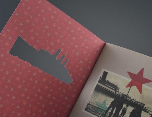 Brochure met uitgestanste cover