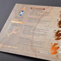 Folder met brons folie