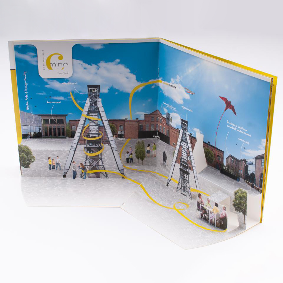 Cmine brochure met pop-up 2