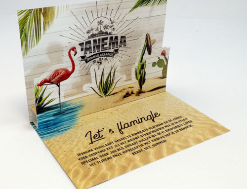 Pop-up kaart / VIP uitnodiging Ipanema (Versuz)