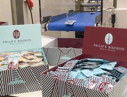 Philip's Biscuits: lay-out & druk van de horeca doos