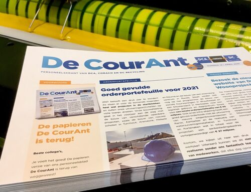 Antilope De Bie drukt nieuwe versie van personeelsblad 'De CourAnt'